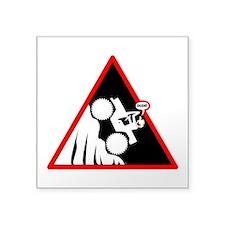 Hill Climb DUDE Danger Signs Sticker