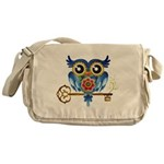 Owl on Skeleton Key Messenger Bag