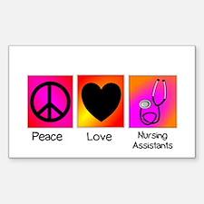 peace love nursing assistants Decal