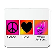 peace love nursing assistants Mousepad