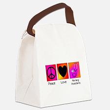 peace love nursing assistants Canvas Lunch Bag