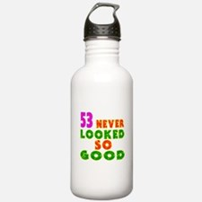 53 Birthday Designs Water Bottle