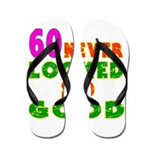60 Birthday Designs Flip Flops