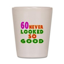 60 Birthday Designs Shot Glass