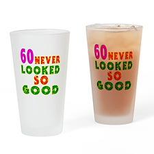 60 Birthday Designs Drinking Glass