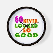 60 Birthday Designs Wall Clock