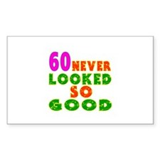 60 Birthday Designs Decal
