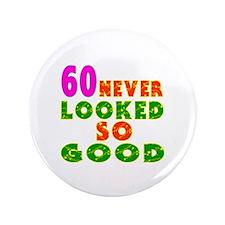 """60 Birthday Designs 3.5"""" Button"""