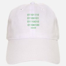 "Binary Code for ""nerd"" Baseball Baseball Baseball Cap"
