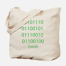 "Binary Code for ""nerd"" Tote Bag"