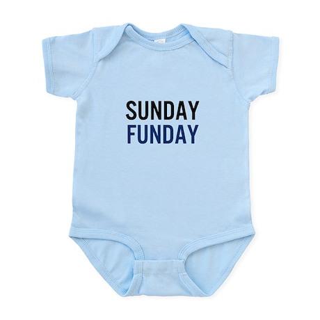 Sunday Funday (black/blue) Body Suit