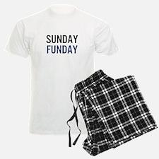 Sunday Funday (black/blue) Pajamas