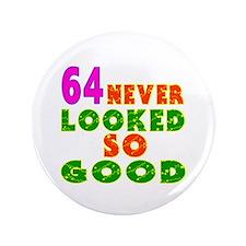 """64 Birthday Designs 3.5"""" Button (100 pack)"""