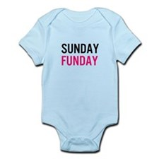 Sunday Funday (black / pink) Body Suit