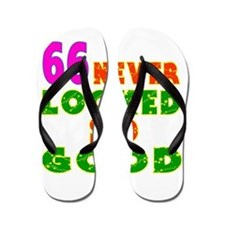 66 Birthday Designs Flip Flops