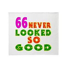 66 Birthday Designs Throw Blanket