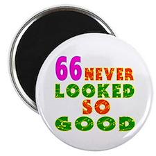 66 Birthday Designs Magnet
