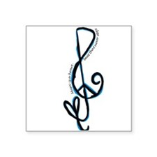 Music note, love, peace Sticker
