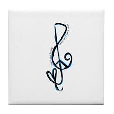 Music note, love, peace Tile Coaster