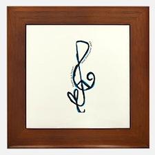 Music note, love, peace Framed Tile