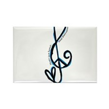 Music note, love, peace Rectangle Magnet