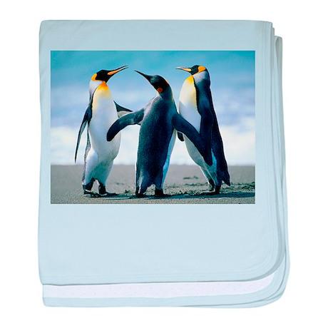 Happy Penguins baby blanket