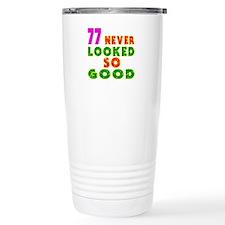 77 Birthday Designs Travel Mug