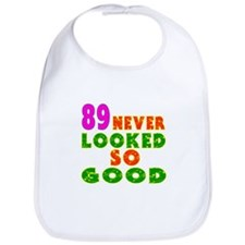 89 Birthday Designs Bib