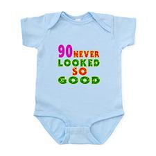 90 Birthday Designs Infant Bodysuit