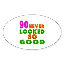 90 Birthday Designs Decal