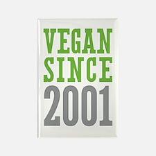 Vegan Since 2001 Rectangle Magnet