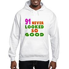 91 Birthday Designs Hoodie