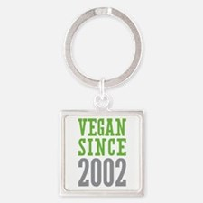 Vegan Since 2002 Square Keychain