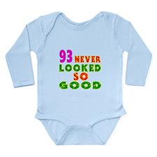 93 Birthday Designs Long Sleeve Infant Bodysuit