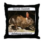 Brush Rabbit Throw Pillow