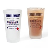Welfare humor Pint Glasses