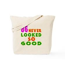 86 Birthday Designs Tote Bag