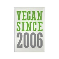 Vegan Since 2006 Rectangle Magnet (100 pack)