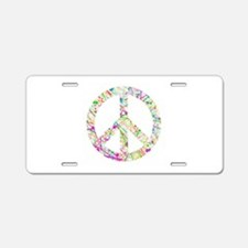 Graffiti Peace Sign Aluminum License Plate