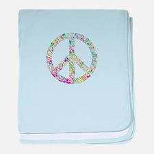 Graffiti Peace Sign baby blanket