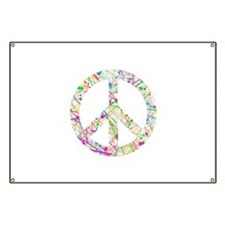 Graffiti Peace Sign Banner