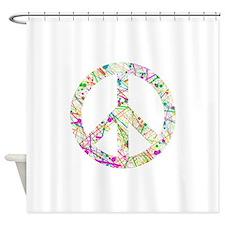 Graffiti Peace Sign Shower Curtain