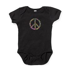 Graffiti Peace Sign Baby Bodysuit