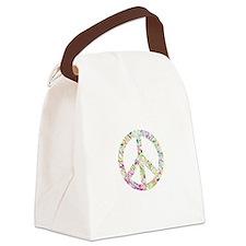 Graffiti Peace Sign Canvas Lunch Bag