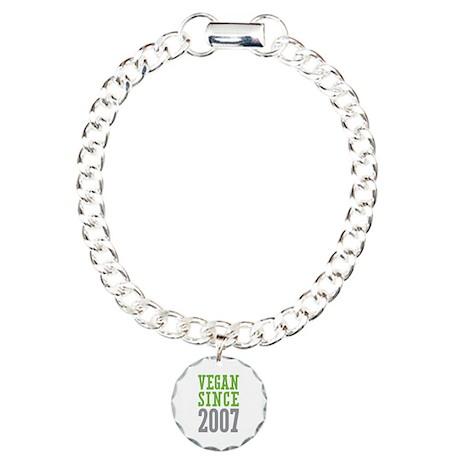 Vegan Since 2007 Charm Bracelet, One Charm