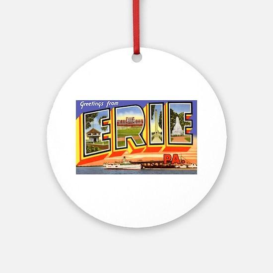 Erie Pennsylvania Greetings Ornament (Round)