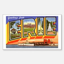 Erie Pennsylvania Greetings Rectangle Decal