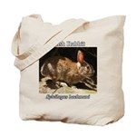 Brush Rabbit Tote Bag