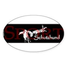 schutzhundsportwhtbumper Decal