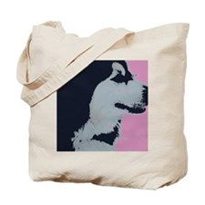 Malamute Dog Pop Art Tote Bag